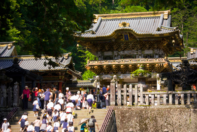 Located in Nikko, Tochigi prefecture, in the northern part of Japan's Kanto region, Nikko Tosho-gu was built in 1617 (Genna 3) and enshrines Tokugawa Ieyasu, the first shogun of the Edo Bakufu (Tokugawa shogunate), who is deified as Tosho Daigongen. This shrine serves as the head shrine to other Tosho-gu shrines throughout Japan.