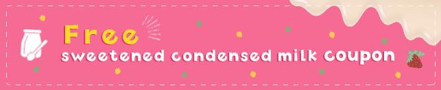 Free sweetened condensed milk COUPON